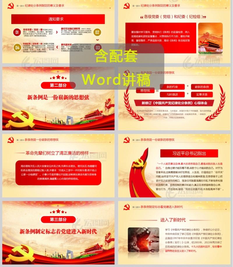 中国共产党纪律处分条例心得体会总结汇报PPT模板