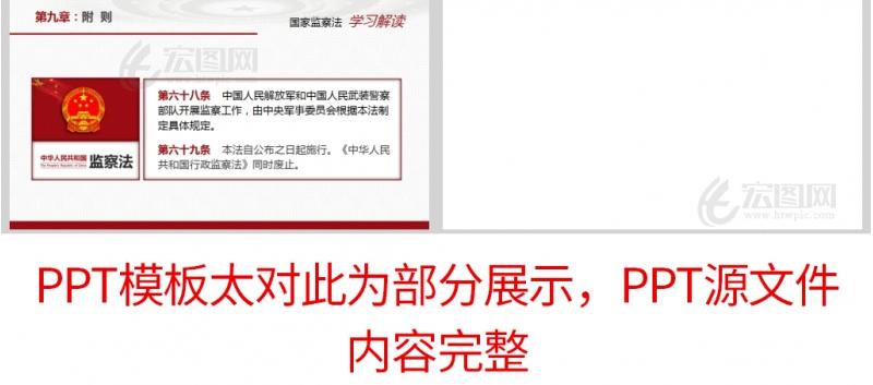 学习解读中华人民共和国监察法党课PPT模板