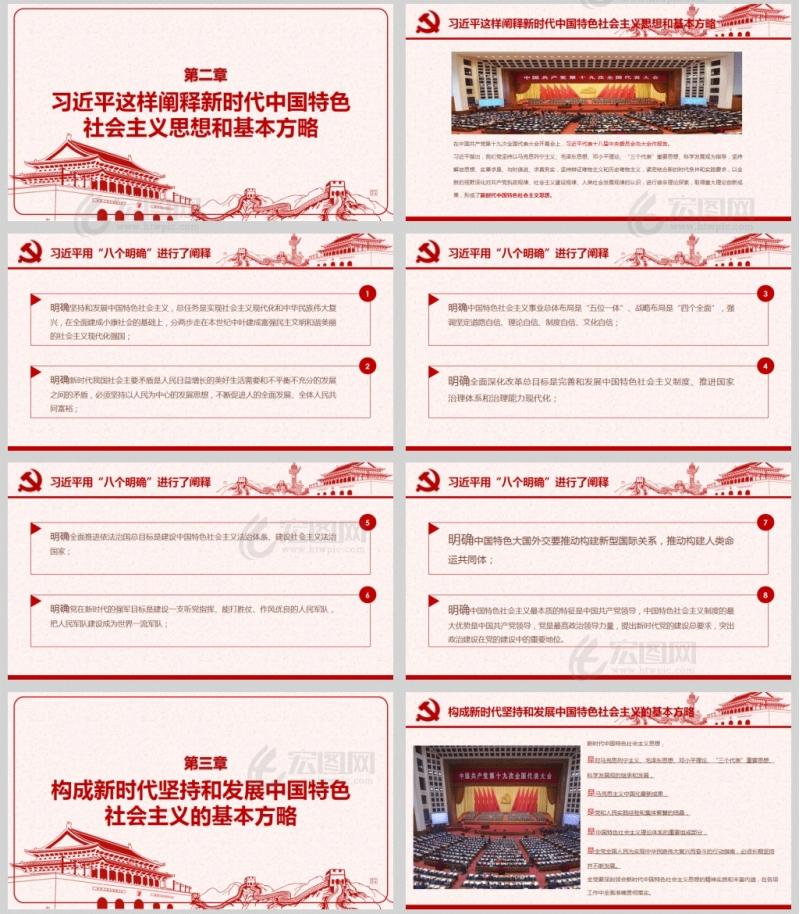 总书记这样阐述新时代中国特色社会主义思想党课PPT模板
