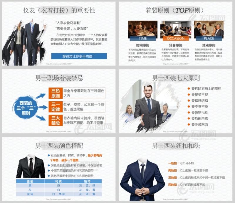 礼仪的力量-商务礼仪培训课件PPT模板