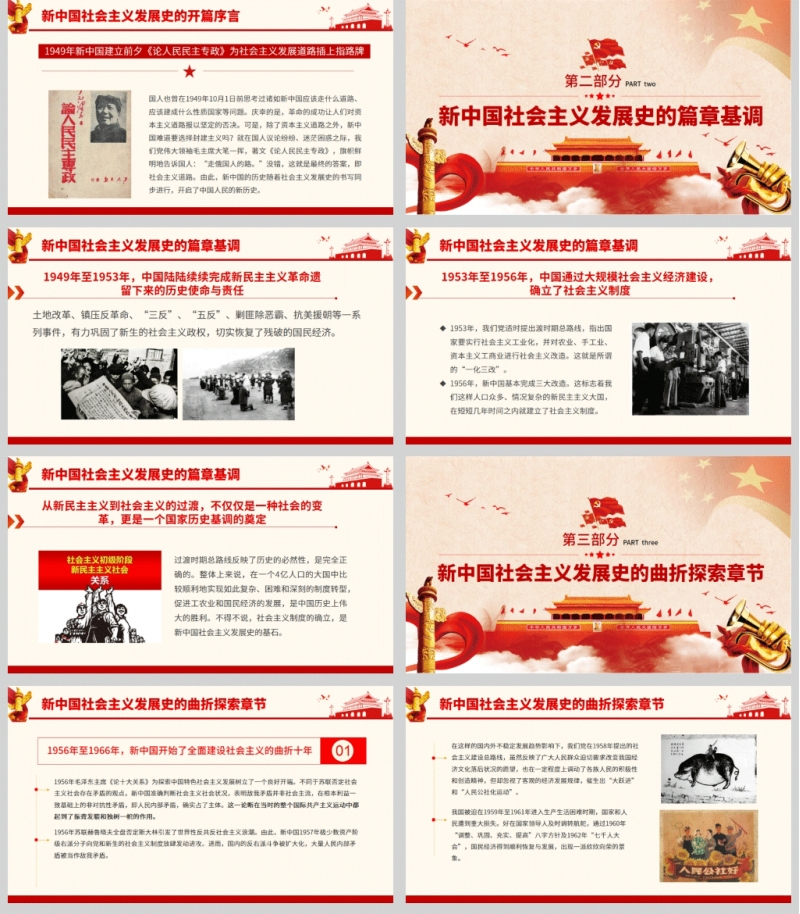 [社会主义发展史PPT ]社会主义光辉岁月 发展之路砥砺奋进PPT含讲稿