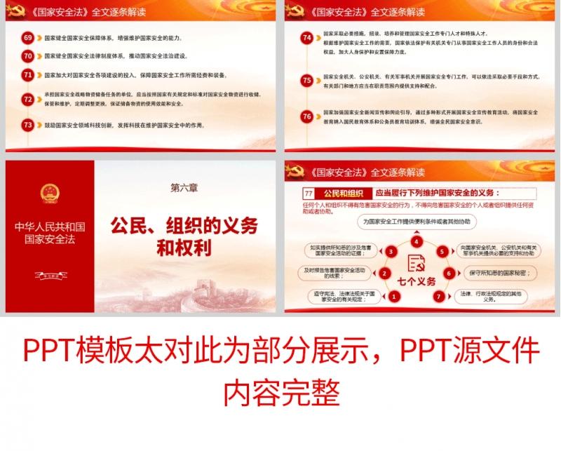 全民国家安全教育日普法宣传PPT及讲稿