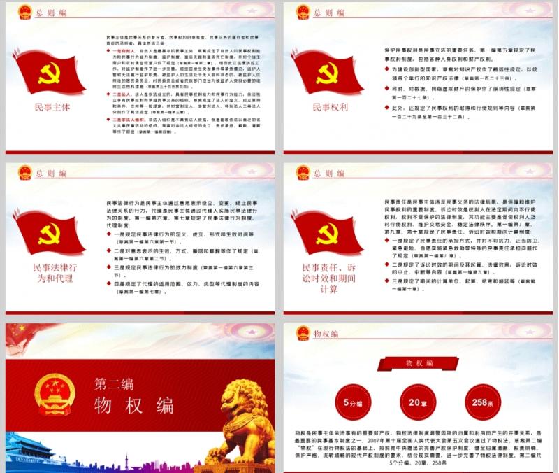 中华人民共和国民法典(草案)PPT模板含讲稿