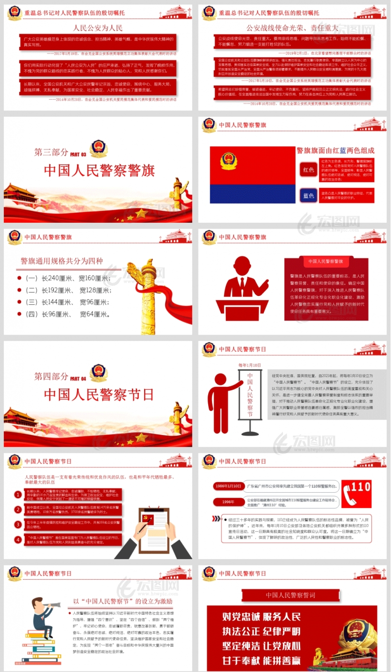 学习在中国人民警察队伍授旗上的训词精神党课PPT