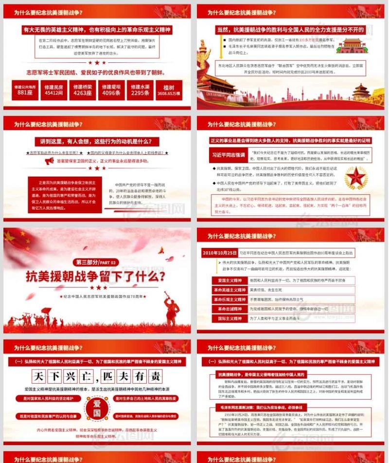 纪念中国人民志愿军抗美援朝出国作战70周年微党课讲稿PPT