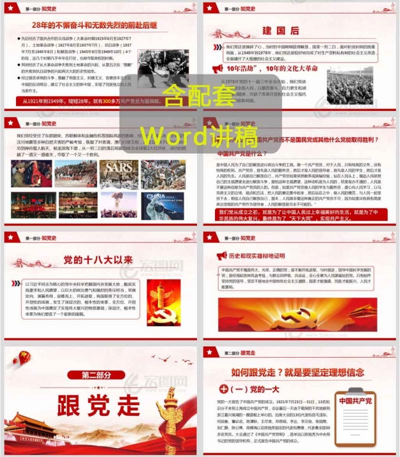 党史、新中国史概要学习知党史 跟党走 尽党责党课讲稿PPT