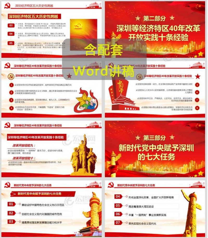 深圳经济特区建立40周年大会上的重要讲话精神党课课件PPT