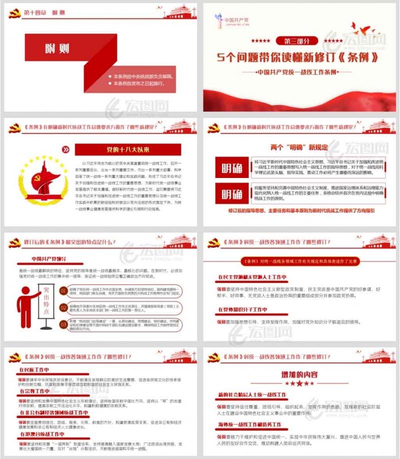 学习解读新修订的《中国共产党统一战线工作条例》课件讲稿PPT