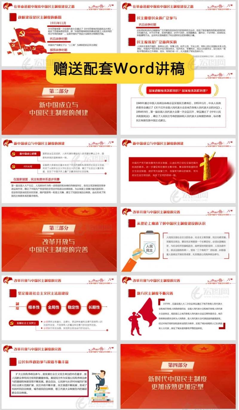 建党100周年中国民主制度百年探索及启示党课课件讲稿PPT