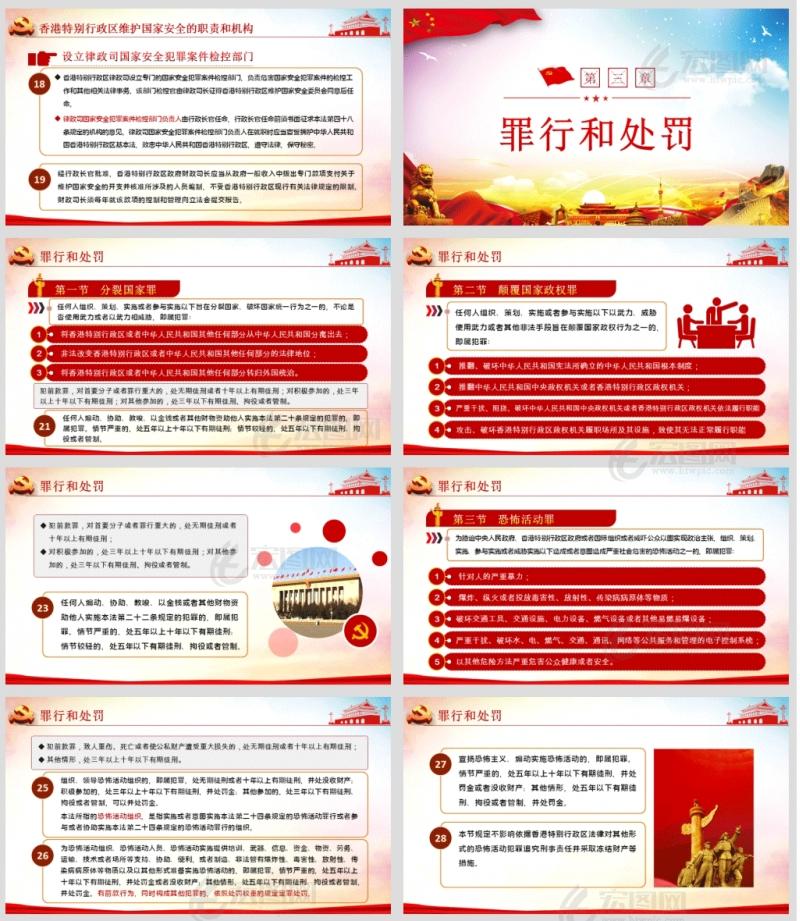 学习解读《中华人民共和国香港特别行政区维护国家安全法》微党课PPT