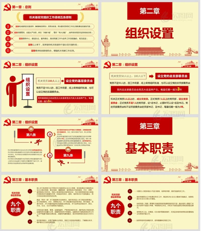 2020年中国共产党党和国家机关基层组织工作条例PPT含演讲稿