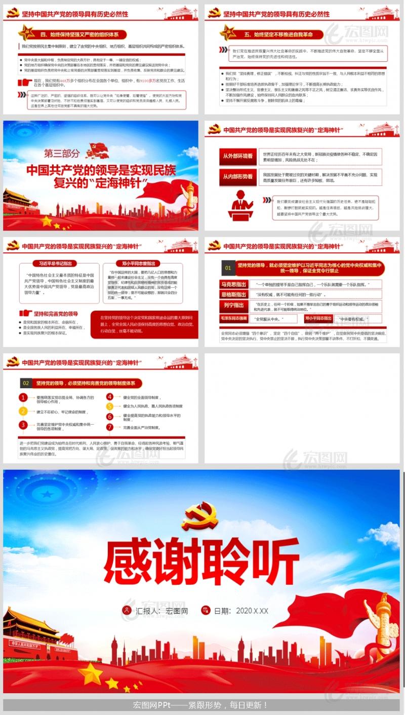 中国共产党的领导是历史和人民作出的正确选择微党课ppt