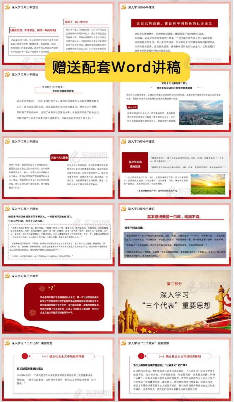 【学党史PPT】庆祝中国共产党成立100周年改革开放以来党的全部理论和实践的主题微党课讲稿PPT