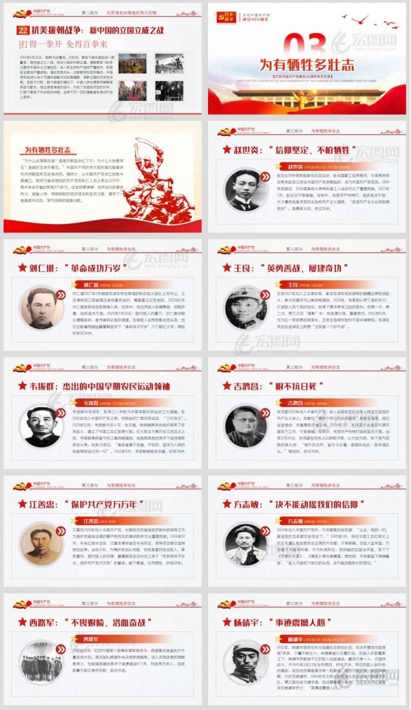 红色江山永不变色七一党史学习教育红色党课ppt含演讲稿