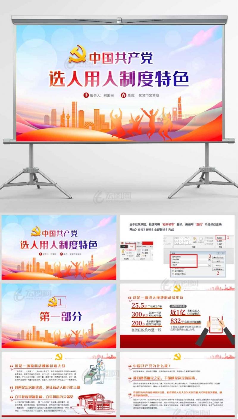 中国共产党选人用人制度特色100周年ppt