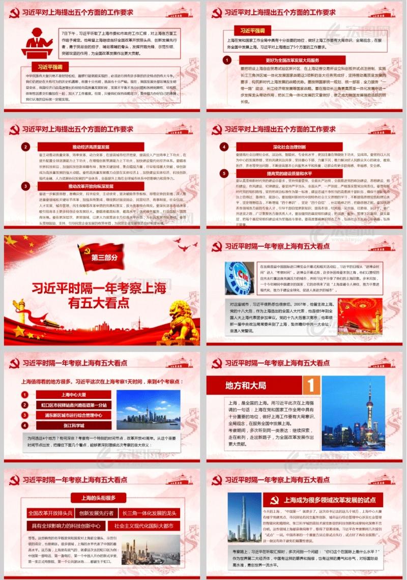 学习贯彻习总书记在上海考察的重要讲话精神PPT课件