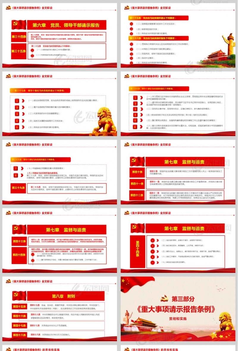 学习解读中国共产党重大事项请示报告条例ppt课件