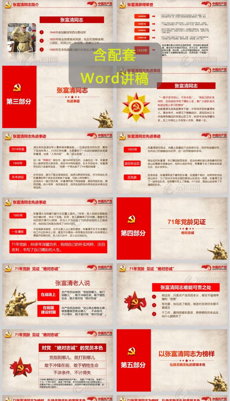 学习张富清先进事迹不忘初心永葆共产党人本色PPT课件