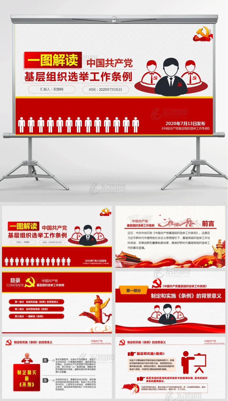 一图解读中国共产党基层组织选举工作条例PPT及演讲稿