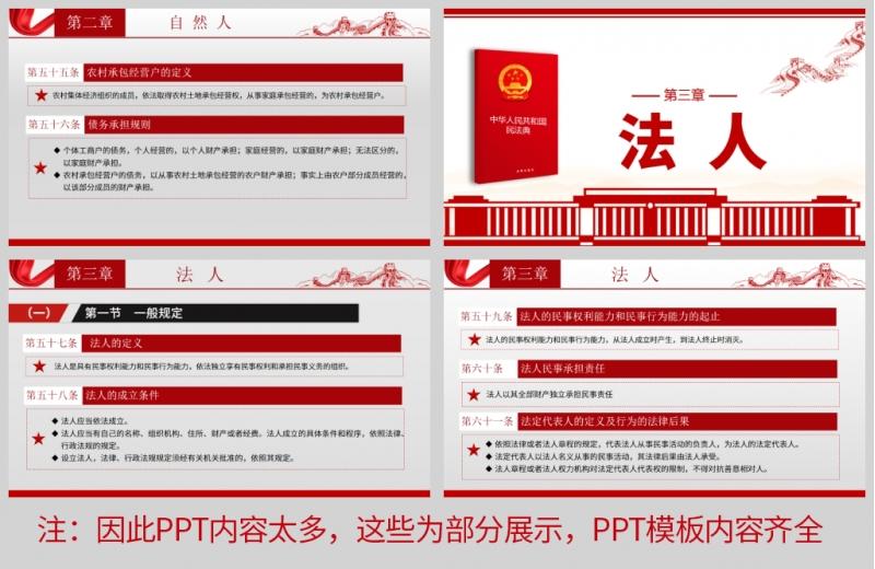 民法典系列解读第一编 总则 PPT模板及讲稿