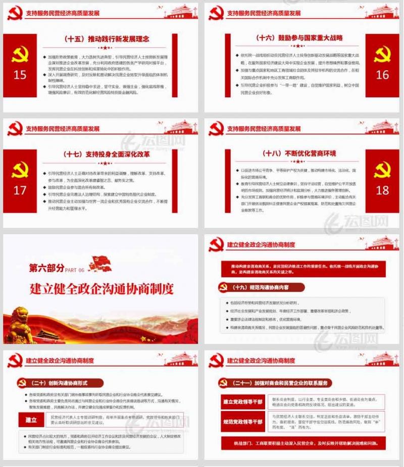 中共中央办公厅印发民营经济统战工作的意见党课PPT模板