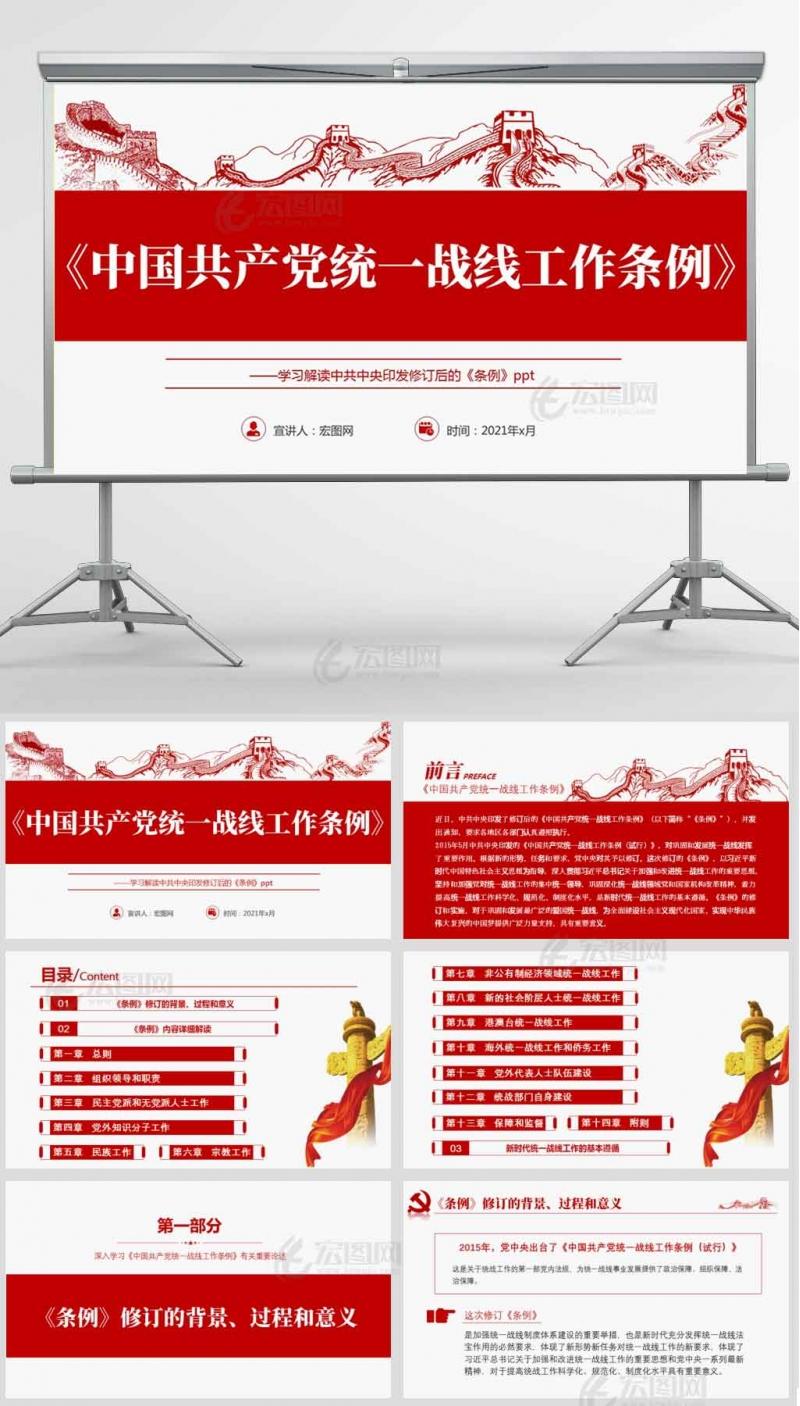 2021年《中国共产党统一战线工作条例》党课课件PPT