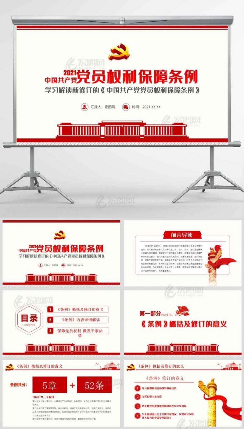 学习解读2021年新修订的《中国共产党党员权利保障条例》课件讲稿PPT