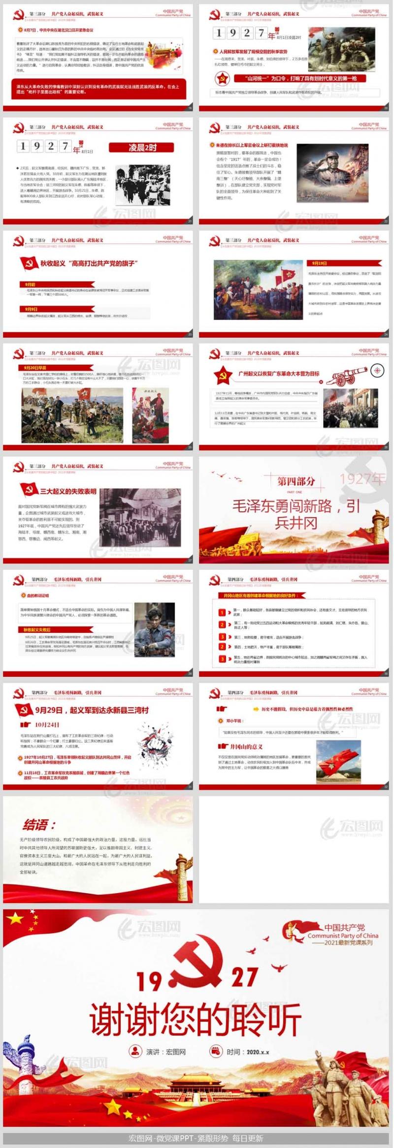 「党史国史PPT」1927风云突变波涛涌中国共产党开始独立领导革命战争党课课件ppt