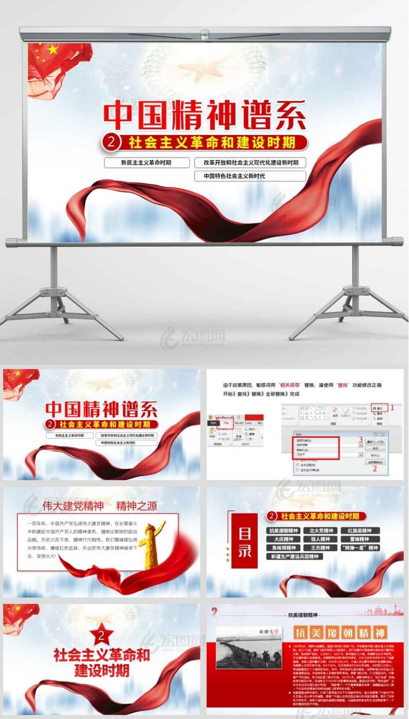 中国精神谱系建党精神社会主义革命和建设时期党课课件ppt