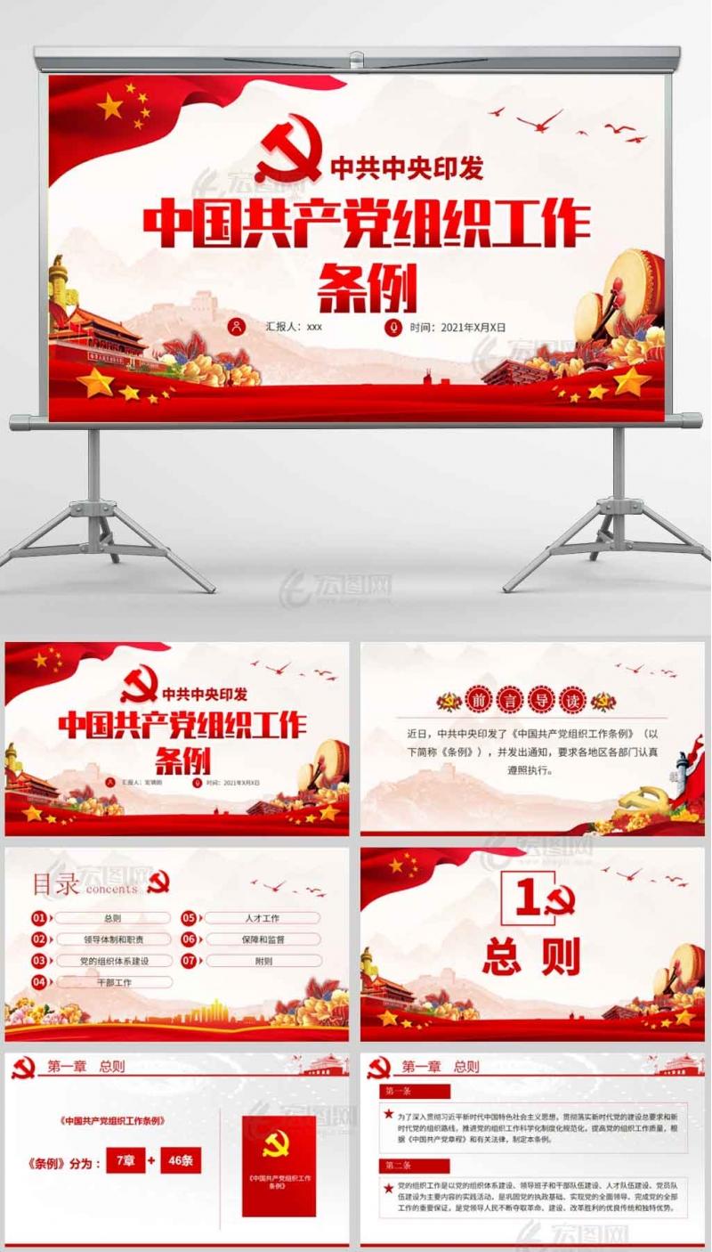 中国共产党组织工作条例ppt